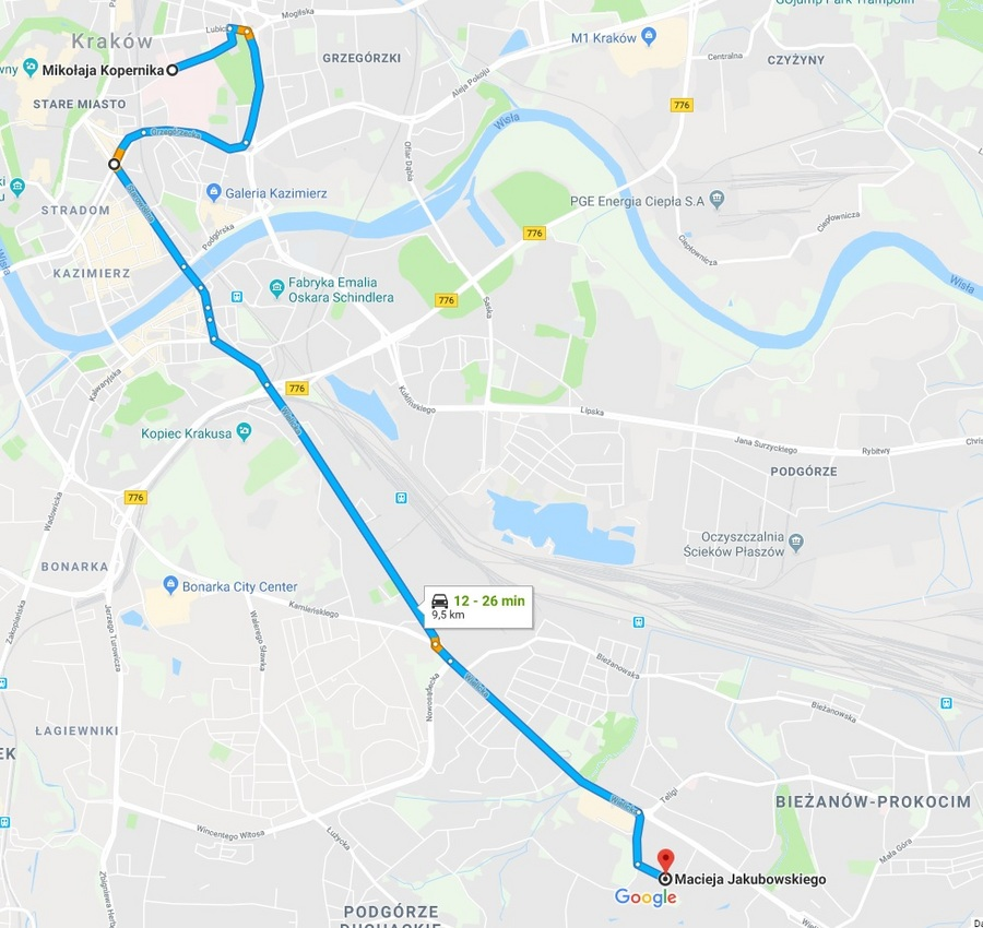 Wojskowe Biuro Emerytalne Krakow Mapa Dojazdu